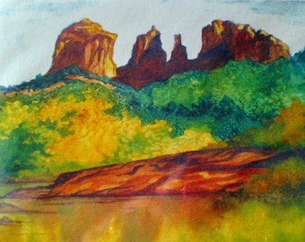 Set Of Sedona Watercolor Greeting Cards