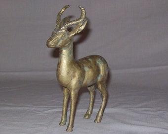 Vintage Solid Brass ANTELOPE Safari Decor