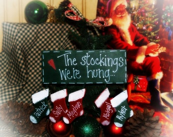 Personalized Stocking were hung Christmas Ornament Decoration
