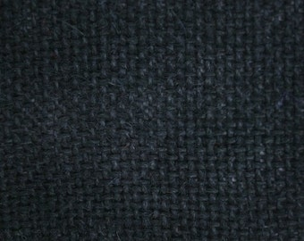 "Black Burlap Fabric 60"" wide per yard"