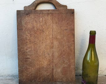 ANTIQUE VINTAGE FRENCH bread or chopping cutting board wood 2602183
