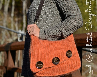Crochet Pattern: Knit-Look Asymmetrical Bag
