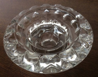 Pretty french vintage glass candle holder