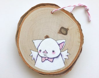 Fancy Bat Ornament. One of a kind little painting.