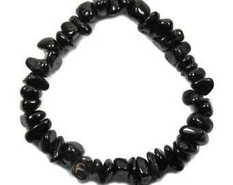 Baroque black tourmaline bracelet