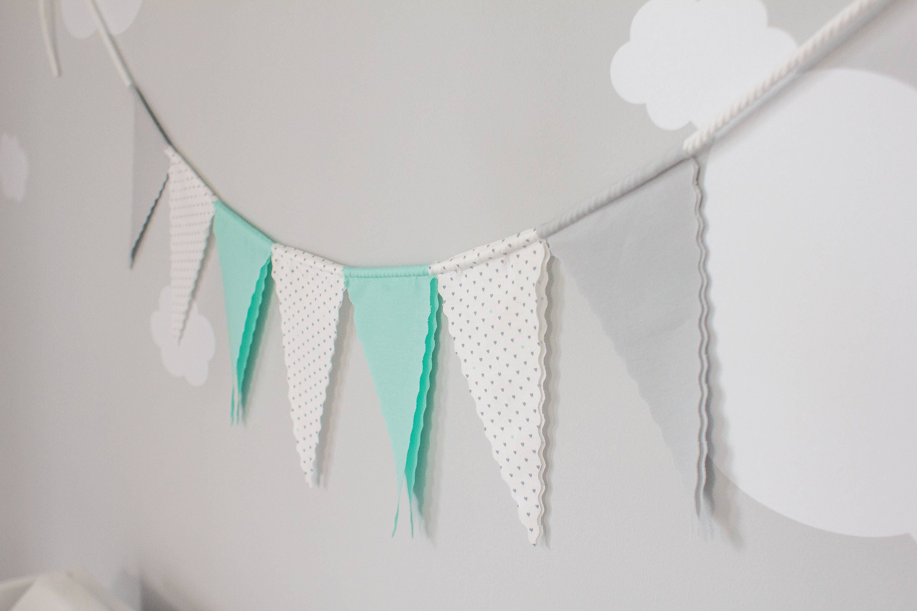 Stoff Bunting Flagge Fahne Flagge Kinderzimmer Wimpelkette