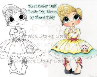 DOWMLOAD instantánea Digital Digi sellos ojo grande Big Head Dolls Digi Besties Carley por Sherri Baldy