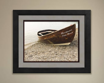 Framed Personalized Lake House Print