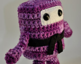 Mini Ninja Plush - Shades of Purple / Lilac / Lavender / Plum / Camo