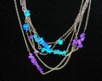 """Tangled Masses Necklace - 29.5"""" Stone and Chain Necklace"""