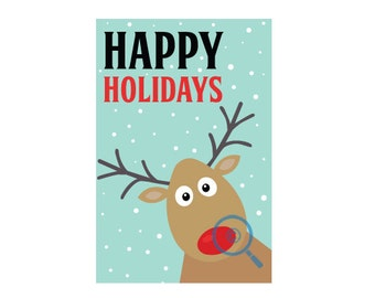Rudolph Red Nose Postcard