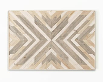 Wood Wall Art ~ Large Wall Art ~ Wooden Wall Art ~ Wooden Wall Art Large ~  Geometric Wood Wall Art ~ White Wood Wall Art ~ Boho Wall Art