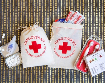 Hangover Kit Bags - Bachelorette Party Favors - Bachelorette Hangover Kits - Wedding Hangover Kits - Bachelor Party Hangover Kits - Hangover