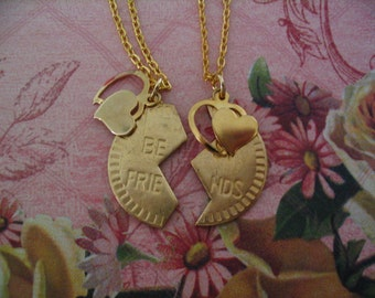 Two Best Friends Heart Necklaces Jewelry for Friends or Sister Friends