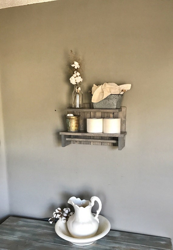 Bathroom Storage, Bathroom Shelf, Wall Shelf, Storage, Bathroom, Bathroom Organizer, Home Decor, Bathroom Shelves, Rustic Bathroom