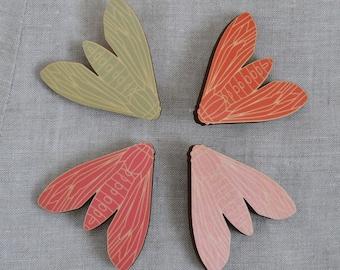 Linear Moth Brooch