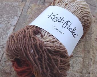 Destash - NEW Knitpicks Galerie yarn in Art Deco, wool aran/heavy worsted single 50gr 137 yards