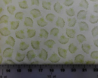 Sale Fabric - Park Lane Fabric by RJR - Mint Green Lacy Tonal Floral - 3 3/4 Yards CLEARANCE SALE!