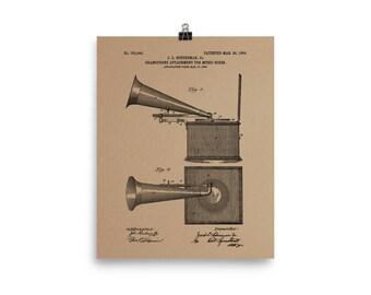 Gramophone Patent Poster