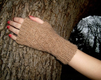 Sand Dunes,Pattern for fingerless gloves, PDF file,Adult size S-L