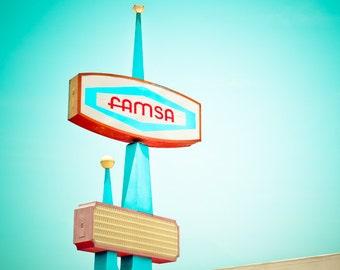 Dallas Texas - Vintage - Retro Sign - Fine Art Photograph - Famsa