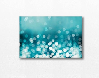 large art abstract canvas art teal home decor bokeh photography fine art photography canvas wrap gallery teal wall art canvas print nautical & Large wall art Teal abstract Canvas art print Teal home