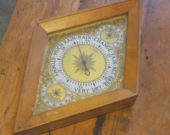 Vintage Barometer , English Barometer , Weather Instrument , FREE SHIPPING!!