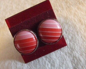 Pink Rainbow  12 mm Post Earrings