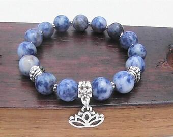 Sodalite Bracelet, Throat Chakra Bracelet, Sagittarius Bracelet, Love Sodalite Healing, Power Bracelet, Sodalite Meditation Yoga Bracelet