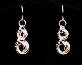 Double-Mobius Flower Earrings