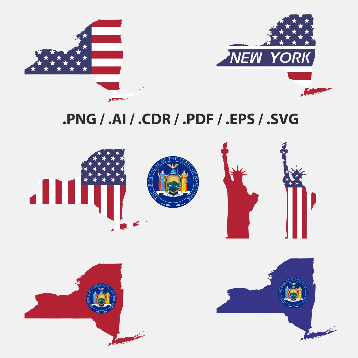 New york state map with flag outline new york flag symbols zoom buycottarizona Image collections