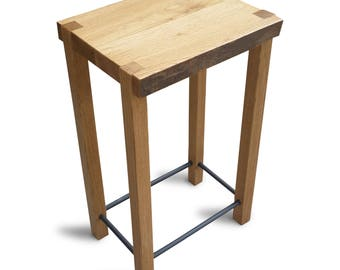 Oak side table/end table/ Rustic side table/stool/live edge side table/  Model No.1