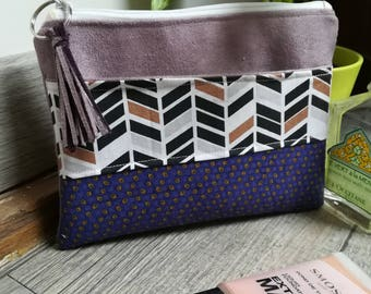 """""""Lilac"""" suede pouch"""