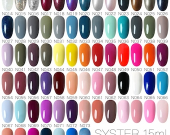 SYSTER New 73 Colours 15ml Nail Art Soak Off UV Gel Polish Lamp