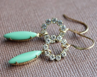 Melody Earrings - Vintage Swarovski and Glass