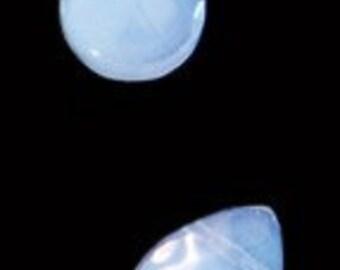 6pc - 9x12mm Faceted Quartz Light Blue Teardrop Briolette Charm Pendants