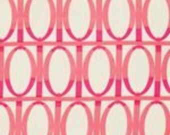 "Last Fat Quarter, Farmington - Pink Gate by Martha Negley for Rowan - Westminster Fabric - Pink Lillies 18""x22"""