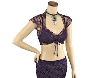 Amira Top - Purple Lace