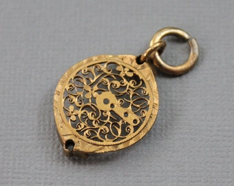 Antique Verge Fusse Pocket Watch Balance Cock Pendant Charm or Fob