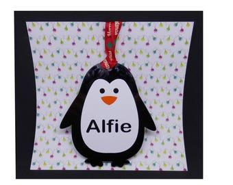 Penguin Bauble/Penguin Tree Decoration/Cute Christmas Decoration/Christmas Penguin/Personalised Christmas Bauble/Penguin Christmas Ornament