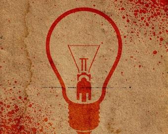 Lightbulb Stencil