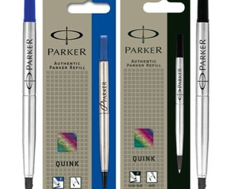 Personalised Engraved Parker Ballpoint Quinkflow Refill – Black Blue – Ultra-Fine Fine Medium x1