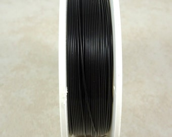 Zebra Wire, BLACK 24g (1465) - Coated Copper Wire - 24 Gauge Wire for Wire Wrapping - 20 yard spool