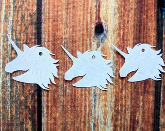 Unicorn gift tags for parties. Other colors available.