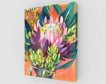 Australian Native Flora Painting Canvas Print 11 x 14