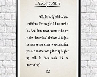 Anne With an E Book Quote Anne of Green Gables Quote LM Montgomery Book Anne Shirley Quote Anne with an E Poster Anne Shirley Poster Netflix