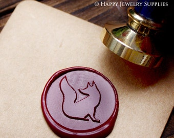 Buy 1 Get 1 Free - 1pcs Fox Gold Plated Wax Seal Stamp (WS116)