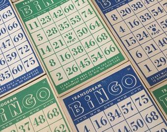 Set of 10 Vintage Bingo Cards.