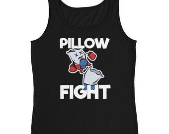 Pillow Fight Slumber Party Favor Shirt | Sleepover Tee | Ladies' Tank