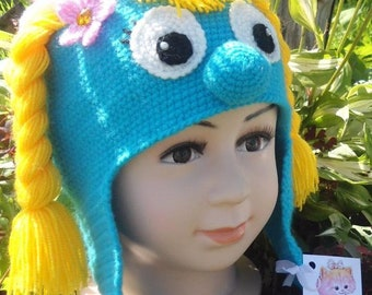 girl Blue Gnome Hat - Any Size   Michele Wansing Crochet Cartoon character inspired girls hat